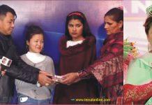 मिस हङकङकी पविता पुमाले गरिन् करेन्ट लागेर दुवै हात गुमाएकी मेघालाई आर्थिक सहयोग